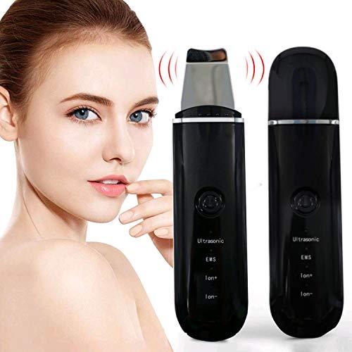 Ultraschallpeelinggerät Skin Scrubber Ultraschall Peelinggerät Porenreiniger Akne Entferner Ionen Hautreiniger zur Gesichtsreinigung Massagegerät