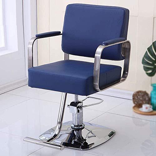 Elegante silla oficina, silla giratoria Silla de peluquería de elevación hidráulica moderna | Silla de pelo de rotación 360 | Silla de peluquería de belleza de altura ajustable con pedal de acero inox