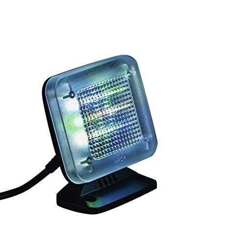 Xavax TV Simulator, Einbruchschutz, 12 stromsparende LED Lampen (3 Programme wählbar, Fake TV mit Dämmerungssensor, Wandmontage oder zum Aufstellen, Ideal in Verbindung mit Zeitschaltuhr)