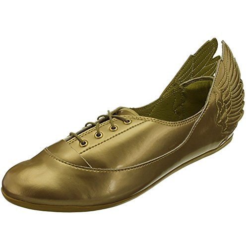 adidas JS Wings Easy Five Gold Mi D65208 Damen Sneaker/Freizeitschuhe/Ballerinas Gold (38, Gold)