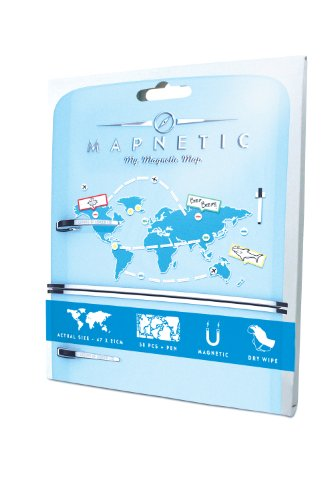 Mapnetic Map - A Magnetic World Map With Dry Wipe Set, Travel Gift - Luckies of London Photo #3