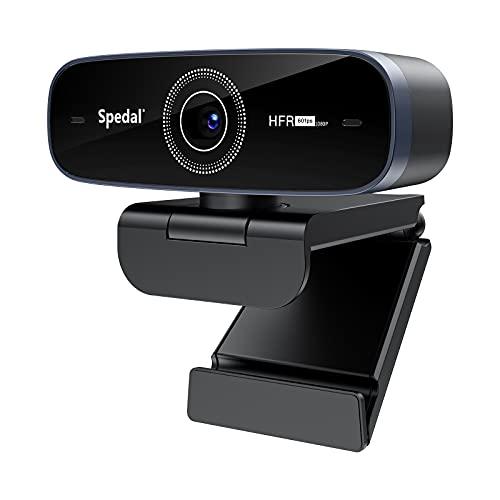 Spedal Webcam con Microfono para PC Cámara Web Full HD 1080p Webcam Autofocus Live StreamCam 60fps para Videollamadas Grabación Conferencias USB Webcam Portátil para Windows Mac
