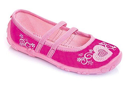 LEMIGO Mädchen Hausschuhe Freizeitschuhe Pola (25, pink)