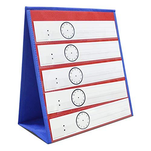 Eamay Desktop Pocket Chart, Tafelblad Leren Klas Pocket Grafieken met Bonus 25 Droge Wis Kaarten. Dubbelzijdige en zelfstaande Pocket Chart voor Kleuterschool, Thuisgebruik of Klas (13