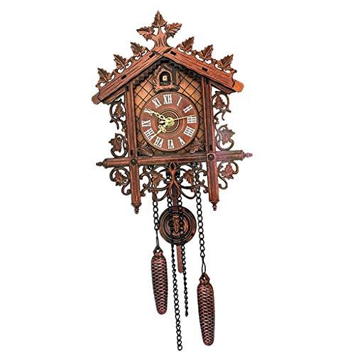 D dolity Madera Cuco Reloj de cuco Reloj Negro Bosque Reloj de...
