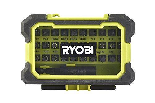 Ryobi Bit-Set 31-tlg. RAK31MSDI (Phillips-, Pozidrive-, Hexagon-, Torx-Bit, magnetische Spitze, Magnetbithalter 60mm mit Quick Lock) 5132002817
