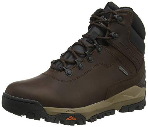 Hi-Tec Altitude Infinity Mid WP, Zapatillas para Caminar Hombre, Chocolate Negro Gris Topo, 43 EU
