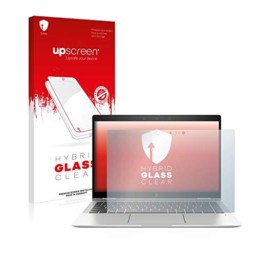 upscreen Hybrid Glass Panzerglas Schutzfolie kompatibel mit HP Elitebook x360 1040 G6 9H Panzerglas-Folie