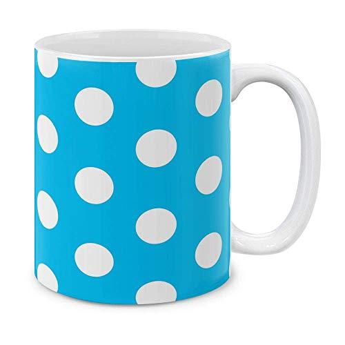 N\A Azul bebé los Lunares Taza de cerámica Taza de té, 11 OZ