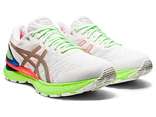 ASICS Men's Gel-Nimbus 22 Running Shoes, 7.5M, White/Sunrise Red