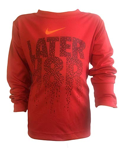 Nike Active Boys' Jersey T-Shirt Top (5, Univ. Red)