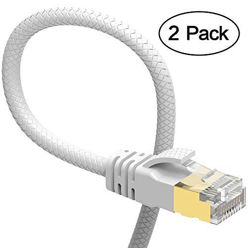 VanDeSaiL - Cable de Red Ethernet (Cat. 7, RJ45, STP, Gigabit 10/100/1000 Mbit/s, con Cable Chapado en Oro, para Interruptor, Router, módem, Panel de conexión)