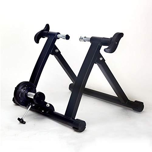 Hometrainer Trainer Stationair Binnen Roestvrij staal Magnetische weerstand Verstelbare vouw Opslag Reizen Thuis Sport Fitness,Black