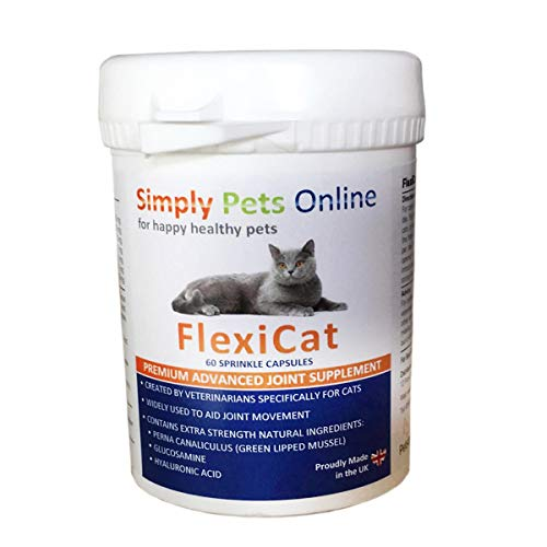 Cat Joint Supplement - Designed by Vets - Green Lipped Mussel - Hip and Joint Care - 60 Capsules