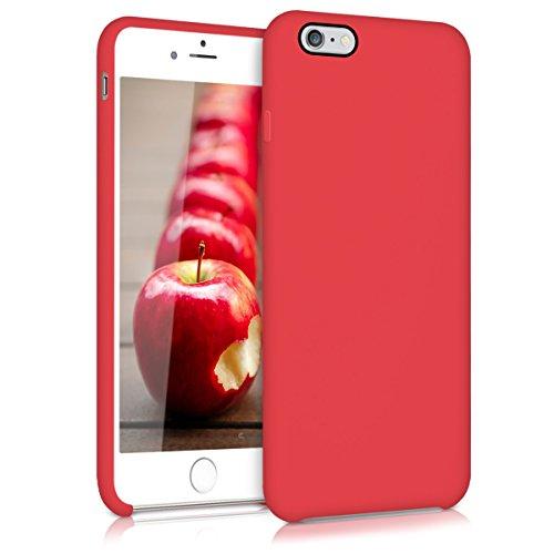 kwmobile Cover per Apple iPhone 6 Plus / 6S Plus - Custodia in Silicone TPU - Back Case Protezione Cellulare Rosso