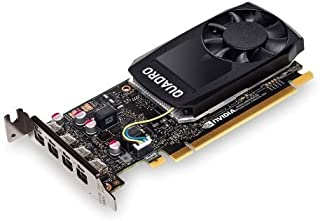 NONE PNY Quadro P1000 - Tarjeta gráfica Profesional (4 GB, DDR5, 4 miniDP 1.2 (1 DVI y 4 adaptadores DP), Baja