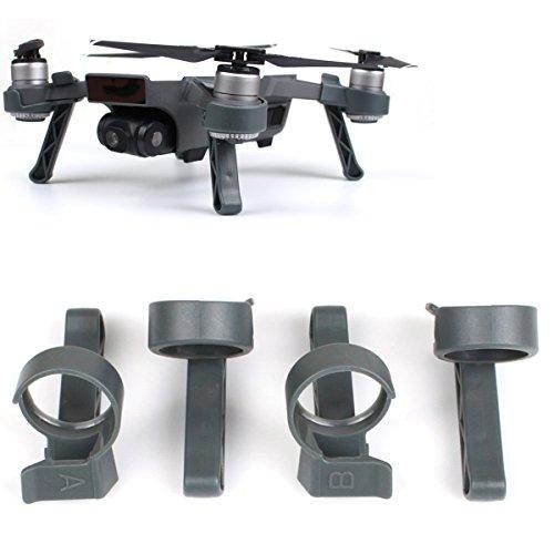 Flycoo Landing Gear für DJI Spark Drone - Beinhöhe Extender Stabilisatoren Drohne Zubehör Fahrgestell Landegestell Gestell (Grau)