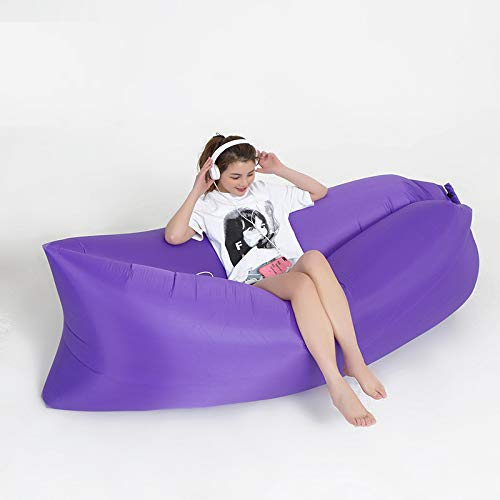ShangSky Foldable Air Sofa Inflatable Loungers Air Loungers Protable Water-proof Outdoor Couch Sleeping Bed with Storage Bag for Travelling Camping Pool Beach