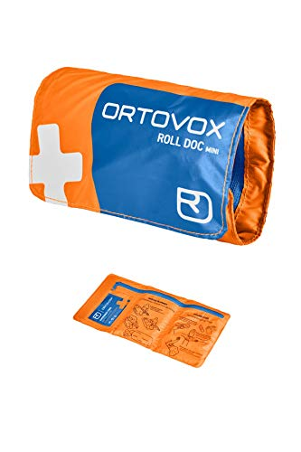 ORTOVOX Unisex-Adult First Aid Roll Doc Mini Erste-Hilfe-Set, Shocking Orange, 15 x 8 x 3 cm