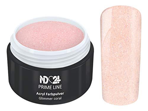 Prime Line - Acryl Pulver Glimmer Koralle Rosa - Feinstes Farb Puder - Studio Qualität - 5g