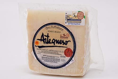 Fromage de Brebis Mi-Vieux 'AOC Manchego' (Morceau, 250 g) - Artequeso