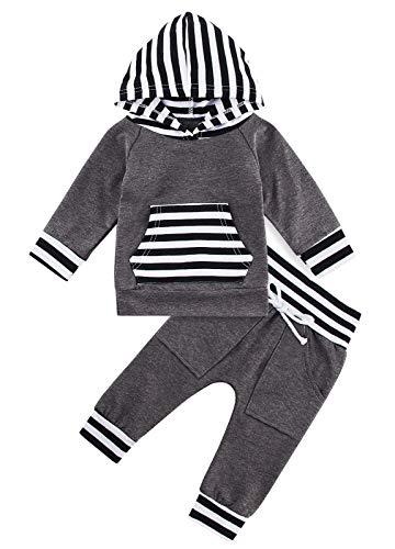 Kids4ever Baby Babykleidung für 18-24 Monat Jungen Mädchen Hoodies Set Sweatshirt Tops and Hosen Bekleidungsset Birthday Gift Strampler Outfits
