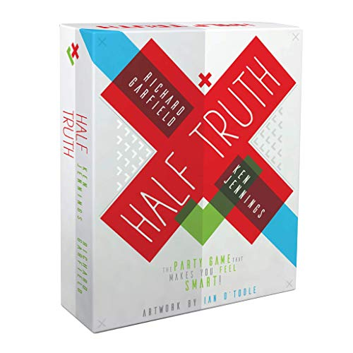 Half Truth Game - The Trivia Game That Makes You Feel Smart - Fun Board Game for Events & Parties - Best Card Deck Games for Teens, Young Adults, and Families - by Ken Jennings & Richard Garfield