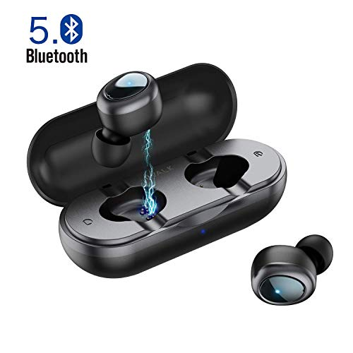 iWALK Auriculares Bluetooth Deportivos Verdaderos TWS Mini Auriculares Inalámbricos Estéreo HiFi con Caja de Carga para iPhone y Otros Smart Phones