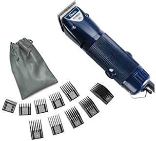 Oster A5 Turbo 2-Speed 78005-314 Professional Animal Dog Pet Clipper + 10 Piece Comb Guide set