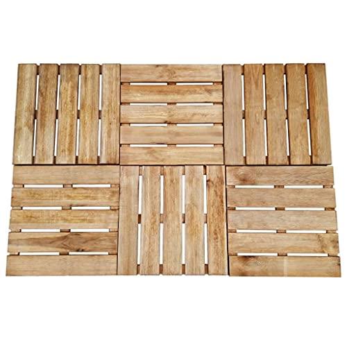 VIENDADPOW Baldosa de Porche 6 Unidades Madera marrón 50x50 cm