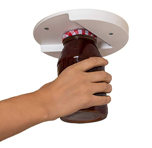 The Grip Jar Opener: The Original, Hidden-Under-Cabinet Lid Opener, Since 1977, Opens Any Size/Type of Lid Effortlessly