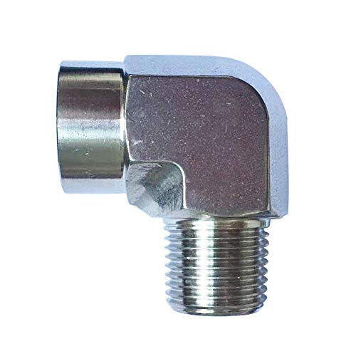 Metalwork 304 Stainless Steel Forged Pipe Fitting, 3/8' NPT Female x 3/8' NPT Male 90 Degree Street Elbow, 1 Pc