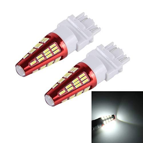 Tangmeiyu Lámpara de luz de Freno del Coche 2-Pack 3157 10W 800LM 6000K 48 LED SMD-4014 canbus, DC 12V (Color : White Light)