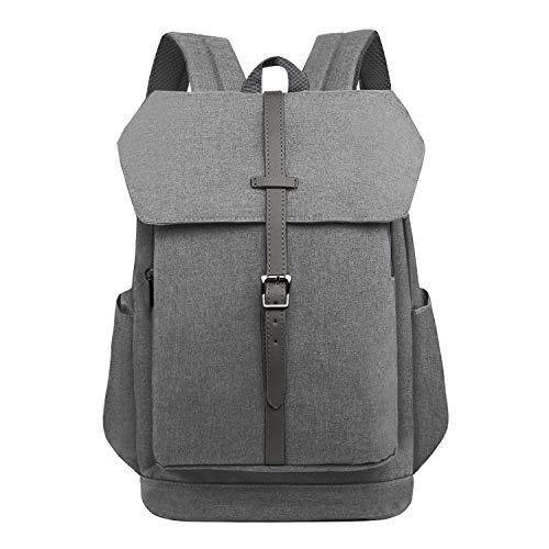 Wind Took Laptop Backpack Computer Rucksack School Daypack Notebook Casual Stylish Water Repellent Uni Travel Business Work Bag for Men Women, Grey