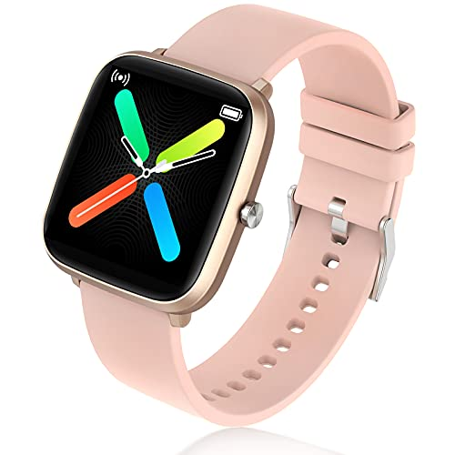 Smartwatch per telefoni Android e iOS compatibile con iPhone Samsung, IP68, impermeabile, con cardiofrequenzimetro, monitoraggio del sonno, contapassi, orologio fitness per uomo e donna