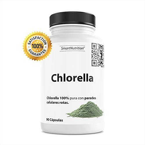 TOP 10 | Chlorella Pura con Paredes Celulares Rotas | SmartNutrition | Superfood rica en Vitaminas, Minerales y Amino Acidos | Capsulas veganas