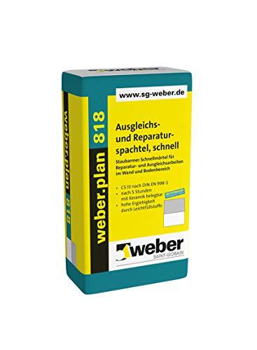 Weber.plan 818 Ausgleichs- und Reparaturspachtel schnell Spachtel Ausgleichmasse Reperaturmasse