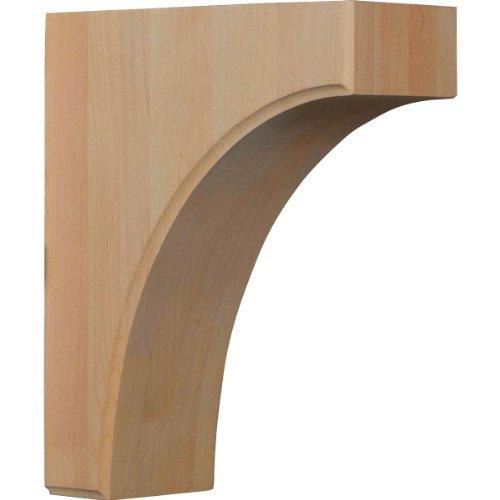 Ekena Millwork BKTW04X08X10CVRW  3 1/2-Inch W by 8-Inch D by 10-Inch H Clarksville Bracket, Rubber Wood