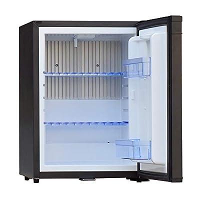 SMAD 12V Compact Mini Fridge Quiet No Noise Absorption Refrigerator with Lock 40L 1.4 cu.ft, Black