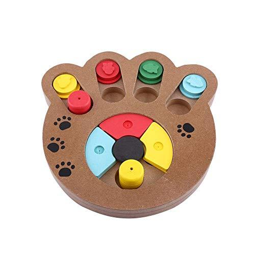 Juguete para mascotas, Juguete para cachorros de ooden, Juguete de madera tratado con alimentos interactivo multifuncional para cachorros lindos para mascotas, patas de perros y gatos (1 pieza)(garra)