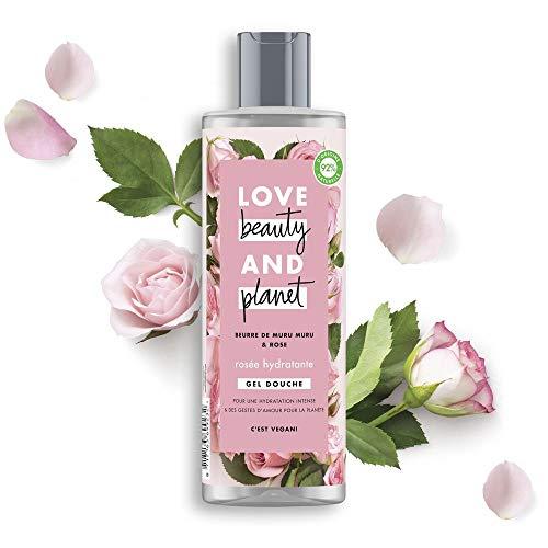 Love Beauty and Planet Duschgel Rosée feuchtigkeitsspendend, 400 ml