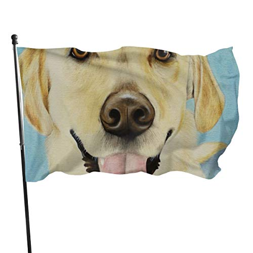 N/A USA Guard Vlag Banner Welkom Vlaggen Bloed Geel Labrador Hond Huisdier Schilderij Yard voor Vakantie Patio Verjaardag Decoratie 3x5 Ft