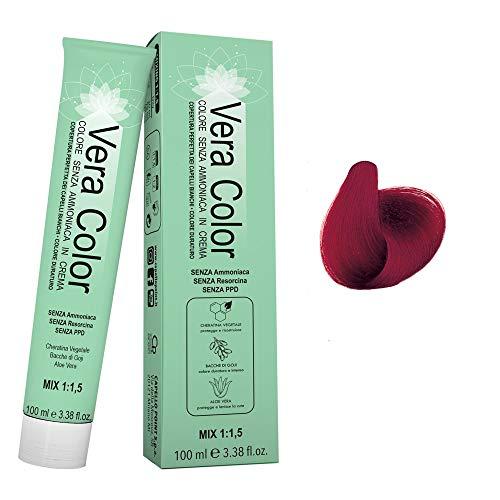 Vera Color - Biondo Scuro Rosso Intenso 6.66 - Colorazione Professionale...