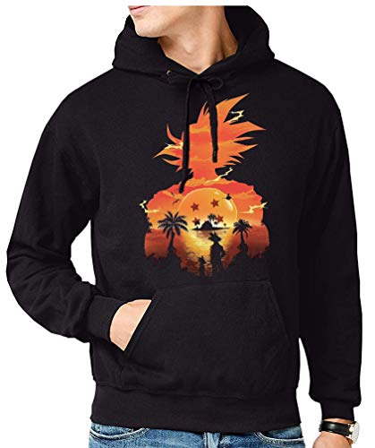 The Fan Tee Sudadera de Hombre Dragon Ball Goku Vegeta Bolas de Dragon Super Saiyan 073 XL