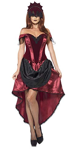 Halloween! Smiffys Kostüm Venezianische Verführerin, mit Oberteil, Rock und Kopfteil