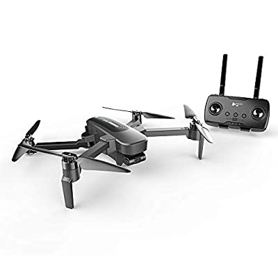 AEDWQ Mini GPS Drone with Camera 4K UHD WiFi FPV Real-time Video Transmission, 4KM Remote Control Distance Vision Assisted Landing RC Four Axis Aircraft Foldable APP Control, Surround Mode, Follow Me
