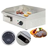 22'' Commercial Countertop Griddle - PROMOTOR Electric Griddle Tools Stainless...