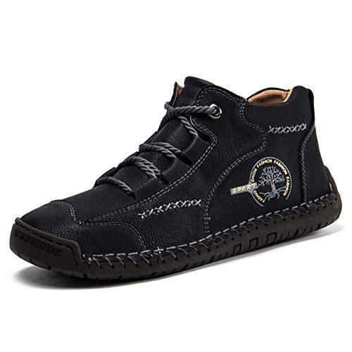 Gracosy Náuticos Zapatos de Hombre de Cuero, Hombre Negocio Vestir Espacio de Trabajo Cuero Partido Oxfords Zapatos Mocasines Zapatos Casuales Zapatos Bajos de Bandas
