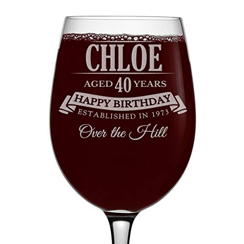 Personalized 16 ounce Wine Glass