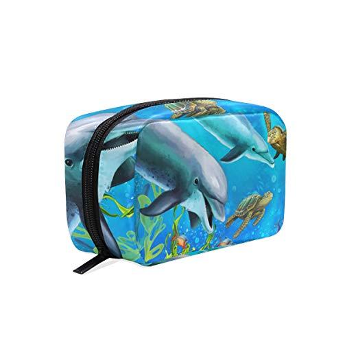 Trousse de maquillage Pochette cosmétique Dolphin Sea Turtle